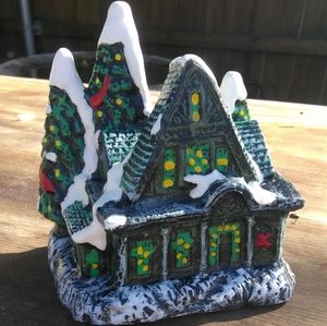 Vintage Christmas Cottage Candle